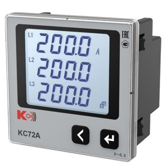 Амперметр цифровой трехканальный КС72А